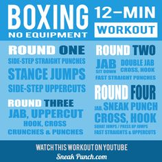 4 Rounds of Boxing Training to Get You in Fighting Shape Boxer Workout, Boxing Training Workout, Home Boxing Workout, Kickboxing Workout, Aerobics Workout, Gym Workouts, At Home Workouts, Workout Fitness, Workout Fun