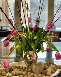Create a fabulous flower arrangement using pink tulips, pussy willow branches, and wood beads. Visit www.jdubbydesign.com for more home decor and garden ideas and inspiration. valentines day idea valentines idea valentines day project valentines day diy decorating for spring diy decor spring spring ideas spring decor diy diy for spring spring flowers spring flowers diy flower arranging Diy Flowers, Spring Flowers, Willow Branches, Spring Design, Pink Tulips, Valentine's Day Diy, Diy Decorating, Flower Arrangements, Garden Ideas