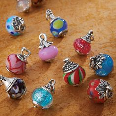 Assortment of Avery Art Glass Charms from James Avery Jewelry