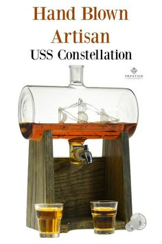 Beautifully Created Hand N Uss Constellation Prestige Decanter Add Your Favorite Liquor