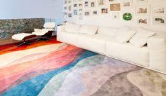 Projeto AMC Arquitetura com tapetes Punto e Filo da Galeria do Tapete
