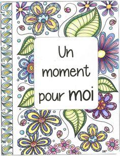 page de garde de mon cahier zen coloriée aux crayons de couleurs. Mandala, Doodles, Notebook, Crayons, Moment, Frame, Zen, Inspiration, Make A Map
