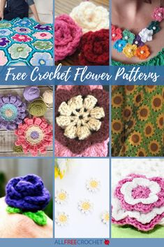 These free crochet flower patterns are just what you need to create all the pins and embellishments you can imagine. You can also crochet flowers for an everlasting bouquet! Learn how to crochet a flower today with these stunning designs. Crochet Flower Tutorial, Crochet Flower Patterns, Crochet Flowers, Crochet Appliques, Knitting Patterns, Crochet Classes, Crochet Videos, Crochet Projects, Crochet Crafts
