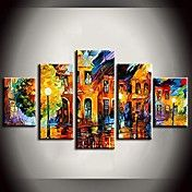 Hand Painted Oil Painting Bright Street Light... – USD $ 74.63