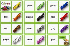 """Englisch in der Grundschule:: Übungsmaterial zum Thema """"colours"""" Sight Word Worksheets, Preschool Worksheets, English Lessons, Learn English, Vocabulary Strategies, Languages Online, English Games, Classroom Language, School"""