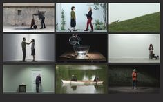 BILL VIOLA Chapel of Frustrated Actions and Futile Gestures, 2013 Nine channels of colour High-Definition video on a 3 x 3 grid of plasma displays; nine channels mono sound