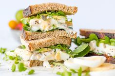 A Superfood Egg Sandwich That Satisfies That Comfort Food Craving via Brit + Co