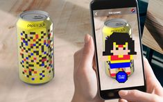 Pepsi X JLA AR Packaging Campaign - Beverages - Package Inspiration Smart Packaging, Food Packaging Design, Beverage Packaging, Packaging Design Inspiration, Pepsi, Ar Game, Experiential Marketing, Robot Concept Art, Augmented Reality