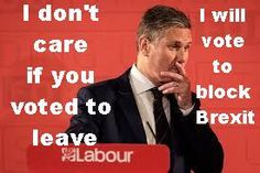 Image tagged in labour starmer block brexit