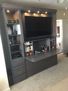 Living Room Wall Units, Living Room Partition, Living Room Tv Unit Designs, Tv Stand Ideas For Living Room, Wall Unit Designs, Tv Unit Furniture Design, Tv Unit Interior Design, Modern Tv Wall Units, Tv Wand