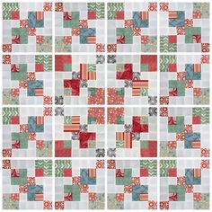 Video tutorial: double disappearing 9 patch block tutorial - This is a very quick and easy block Star Quilt Blocks, Strip Quilts, Panel Quilts, Easy Quilts, Disappearing Nine Patch, Nine Patch Quilt, Scrap Quilt Patterns, Pattern Blocks, Quilting Tutorials