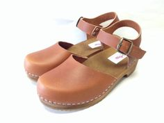 Honey Brown Oiled Dalanna Low Heel with buckle by ChameleonClogs