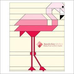 NEW!! Pink Flamingo Block Pattern