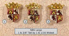 CHOIX od un début du 20ème siècle à la main fabriqué à la main peint en céramique bouclier bouton NBS Large