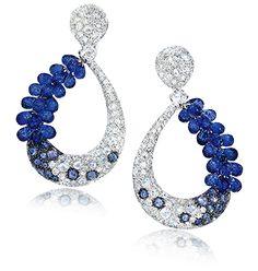 Cellini Blue Sapphire Briolette Earrings