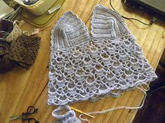 So, before the earthquake, I said that I would make a camisole and a bralette. And here's my continuing attempt! I actually started with something more complicated than this, but for now, with the aftershocks still around us, I will stick to the simple stuff!!
