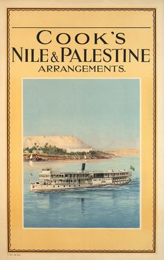 ANONYME, 1926 Palestine, Travel Posters, Sailing, Around The Worlds, Movie Posters, Boat, Anonymous, Cities, World