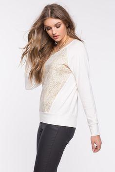 Свитшот Размеры: S, M, L Цвет: белый, золотой с принтом Цена: 1149 руб.     #одежда #женщинам #свитшоты #коопт