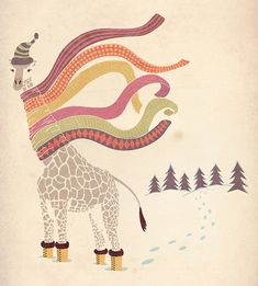 The Snow Giraffe by Matthew Dupuis, via Flickr