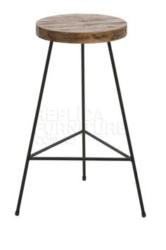 Wire Industrial Tripod Stool - Reproduction - Bar Stools Online