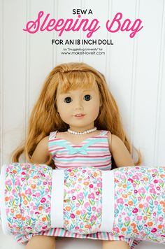 Today's contributor is Jillfrom Snugglebug University. All posts written by Jillfor Make It and Love It can be found HERE. . . . . . Hi, it's Jill from Snugglebug University. Today, I'm so excited to share a project that I made for my daughter for Christmas, a sleeping bag for her American Girl doll! …
