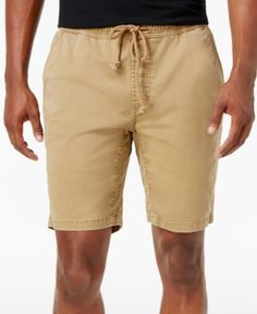 American Rag Men's Classic-Fit Stretch Solid Drawstring Shorts, Only at Macy's  - Gold 2XL