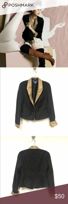 "Lil Sequin Flame Blazer Excellent condition. Bust: 17"" across, length: 20.5"". 60% wool, 40% Polyester. No trades. 0317 Anthropologie Jackets & Coats Blazers"