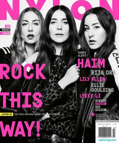 haim, june/july 2014 the music issue: http://shop.nylonmag.com/collections/whats-new/products/haim-june-july-2014-the-music-issue #NYLONshop