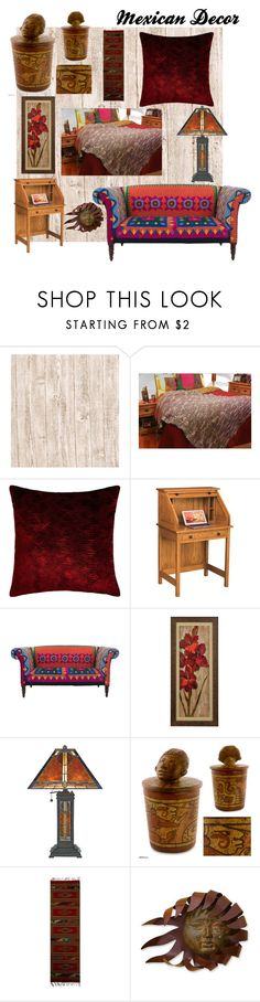 """Mexican Decor"" by nadiasknits ❤ liked on Polyvore featuring interior, interiors, interior design, home, home decor, interior decorating, DutchCrafters, Quoizel and NOVICA"