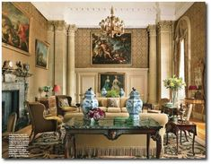Easton Neston with Architectural Digest Henrietta Spencer-Churchill, Georgian Style, Georgian Houses, Regency Furniture, English Style, English Decorating, Georgian Furniture
