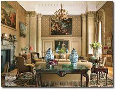 Easton Neston with Architectural Digest Henrietta Spencer-Churchill, Georgian Style, Georgian Houses, Regency Furniture, English Style, English Decorating, Georgian Furniture