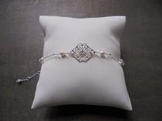 """Bijoux mariage - Bracelet mariage """"Elena"""" plaqué argent : Bracelet par les-bijoux-d-aki"""