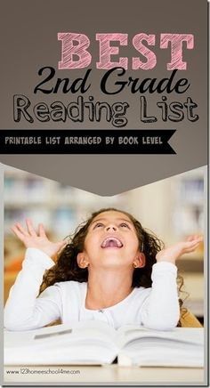 Best Grade Reading List - over 40 amazing books kids will love on a free printable list arranged by book level! Great for parents, teachers, and homeschoolers. Reading Groups, Reading Levels, Kids Reading, Reading Activities, Teaching Reading, Guided Reading, 2nd Grade Reading Books, Teaching Ideas, 2nd Grade Books For Boys