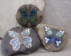Mosaic Garden Stones | Makes me want to jump on a plane and go take one of Chris Emmert's classes!!!!