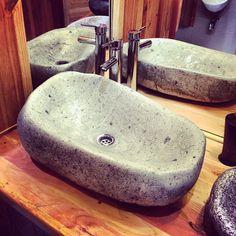 Lavamanos nivel piedra #stone #bathroom