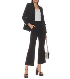 High-rise cady bootcut pants in black #Sponsored #cady, #rise, #High 70s Outfits, Slim Legs, Pants Outfit, Luxury Branding, Black Pants, What To Wear, Luxury Fashion, Clothes, Shopping