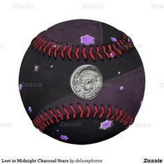 Lost in Midnight Charcoal Stars Baseball