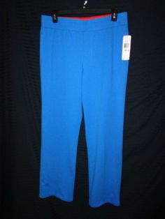 NWT L Ralph Lauren Active Sweat/Yoga/Lounge/Work out Pants Blue/Orange Trim  #RalphLaurenactive #TrackSweatPants