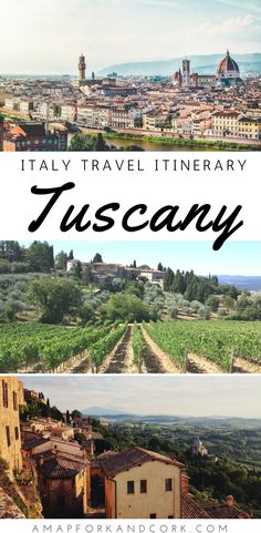 Italy travel itinerary to Tuscany! The best tips on where to stay, what to eat and things to do.  #Tuscany #Italy #Itinerary