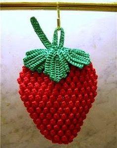 CROCHE WITH RECIPE: Strawberries in croche
