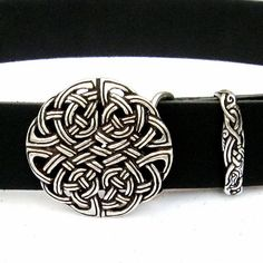 Leather #belt with intricate #Celtic #knot #work - Available on ETSY by Pera Peris - House of History