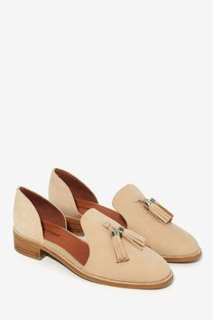 Jeffrey Campbell Open Case Suede Flat//