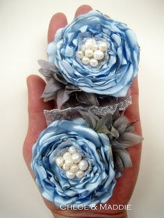 DELILAH something blue baby blue shoe clips for by ChloeANDMaddie, $54.95