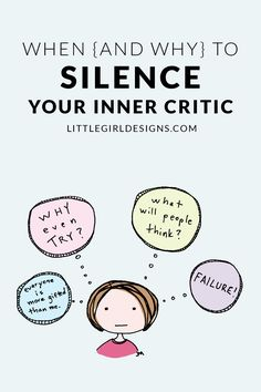 When (and Why) to Silence Your Inner Critic - Jennie Moraitis Negative Thinking, Critic, Life Advice, Stress Free, Self Development, Self Esteem, Self Help, Life Lessons, Self Love