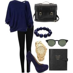 Navy blue outfit! I really want this outfit!!