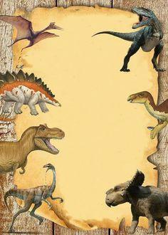 Dinosaur Birthday Party, 4th Birthday Parties, Boy Birthday, Jurassic Park Party, Birthday Invitations, School Fun, Party Themes, Birthdays, Ideas Aniversario