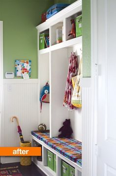 Before & After: An Organized Mudroom — Prudent Baby