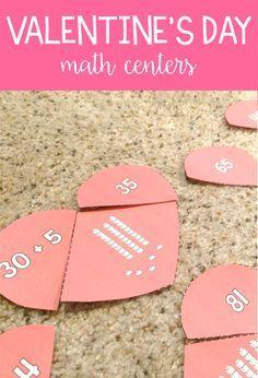 february math centers valentine math