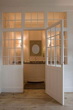 Glass door for bathroom