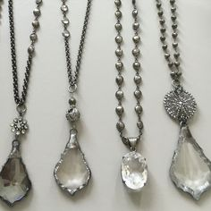 Gemstone and vintage crystal necklaces. For retail and wholesale inquiries email lisajilljewelry@gmail.com